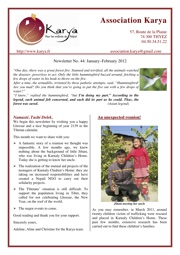 Newsletter of the Association Karya